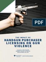 Impact of Handgun Purchaser Licensing
