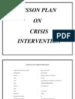 crisis intervention lesson plan