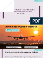 What is the best way to build an airline reservation website?