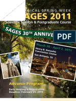 SAGES 2011 Postgraduate Courses and Scientific Session Advance Program