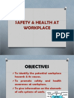 SAFETY & HEALTH AT WORKPLACE