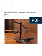 Indian Judicial Doctrines – Principles of Constitutional Law Explained