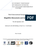 Third International Symposium Megalithic Monuments and Cult Practices 1st Circular