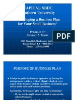 A Business Plan...Why - Greg Spann