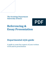 Referencing and Essay Presentation_Essex