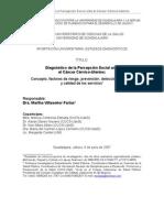 Diagnóstico de la Percepción Social ante el Cáncer Cérvico-U