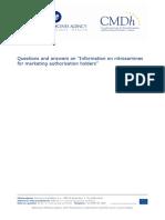 nitrosamines-emea-h-a53-1490-questions-answers-information-nitrosamines-marketing-authorisation_en (Update Dec 2019)