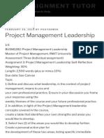 Project Management Leadership