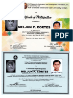MELJUN CORTES 2016 PUP Certificate of Participation Research Conference Research Colluquouim