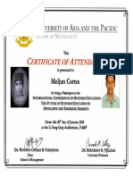 MELJUN CORTES 2014 UAP Certificate International Conference on Business Education