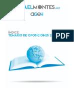 Índice temario de oposiciones Geografía e Historia 2019-2020