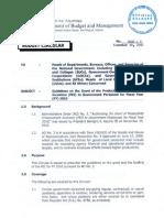 DBM Budget Circular No. 2010-3