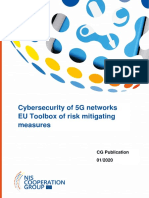 Cybersecurity of 5G networks - EU Toolbox of risk mitigating measures