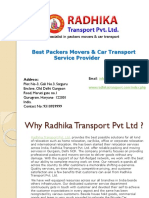 Radhika Transport Pvt Ltd - Packer & Movers services in Delhi