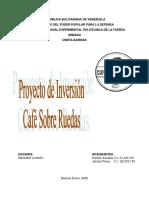 Proyecto de inversión cafe sobre ruedas