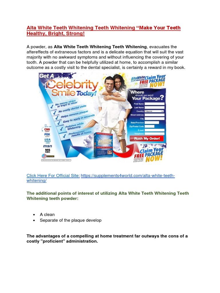 Alta White Teeth Whitening Make Your Teeth Healthy Bright