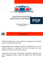 Fraud Investigation, Prevention and Detection