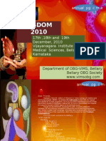 Brochure- 'Wisdom 2010' 4th National Level Pg Cme