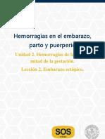 H U2. L2 Hemorragias. Embarazo ectopico
