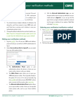 myMFA Edit Verification Settings