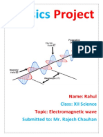 Project Report on Electromagnetic waves