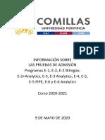 Pruebas ICADE 2020-2021