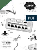 Yamaha PSS-E30 Owner's manual