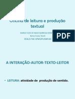 Oficina de leitura e produção textual