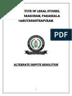 ALTERNATE DISPUTE RESOLUTION