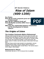 Chapter 8 - The Rise of Islam, 600-1200 (Missing the Formation of the Umma and the Rec Entering of Islam)