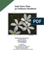 Model Native Plant Landscape Ordinance Handbook