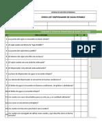 Check List Dispensado de Agua Potable MPM