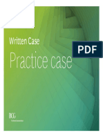 BCG written case