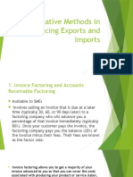 Alternative Methods in Financing Exports and Imports