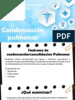 Condensación pulmonar