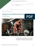 10 Opções de Treino ABCDE para Hipertrofia - MundoBoaForma.com.br