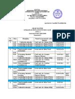 Orar master SIE anul I sem I   2019-2020 din 4 noiembrie