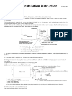 AWater pump installation instruction