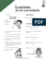 IV BIM - 2do. Año - ALG - Guía 2 - Ecuaciones 1er Grado con