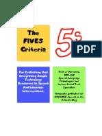 Fives Booklet