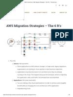 AWS Cheat Sheet - AWS Migration Strategies - The 6 R's - Tutorials Dojo