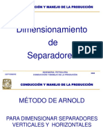 Método de Arnold para Dimencionar Separadores