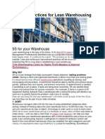 5S Best Practices for Lean Warehousing