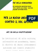 Presentazione DDL Gelmini (pre emendamenti)