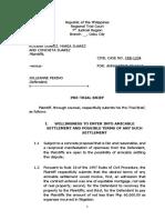 Pre Trial Brief Plaintiff Final