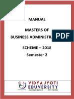 MASTER MBA 2018 SEMESTER 2