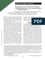 2005, AHA and NHLBI- Diagnosis Criteria