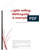 eBook English Writing Méthoguide Exemples