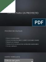 Datos de Proyecto