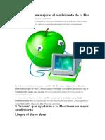 5 consejos para mejorar el rendimiento de tu Mac